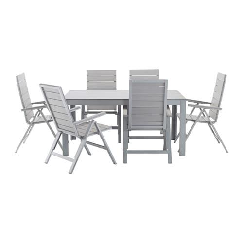Falster tavolo 6 sedie relax da giardino ikea - Set da giardino ikea ...