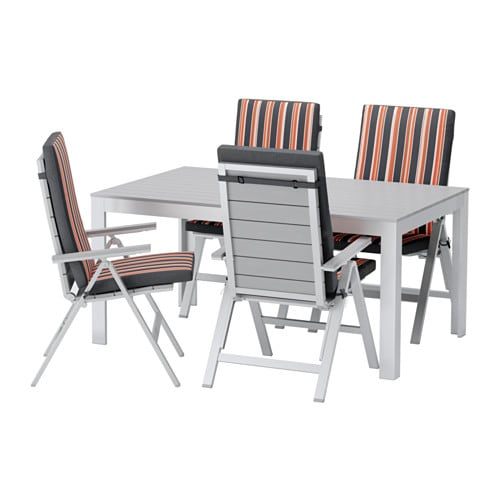 Falster tavolo 4 sedie relax da giardino falster grigio eker n nero ikea - Sedie relax ikea ...
