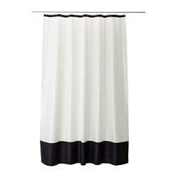 FÄRGLAV Tenda doccia, bianco, nero  - Sottocosto IKEA Torino