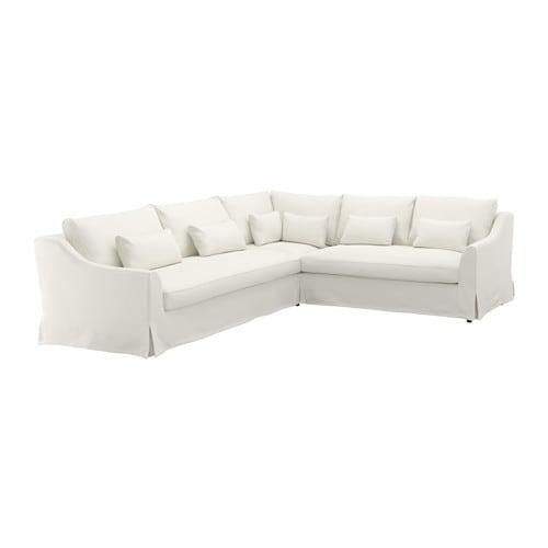 F rl v divano angolare 3 2 flodafors bianco ikea - Divano angolare bianco ...