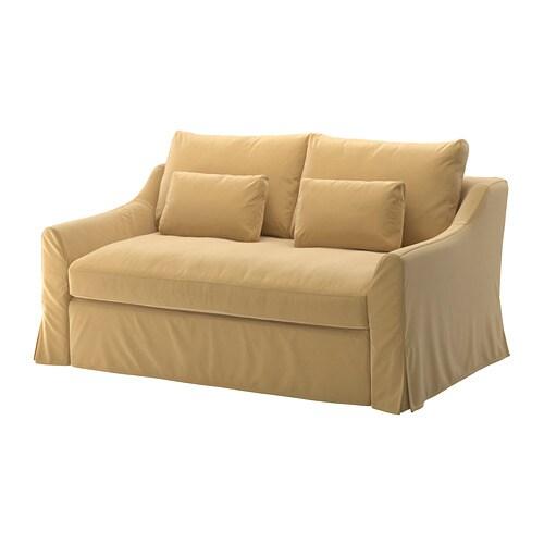 F rl v divano letto a 2 posti djuparp giallo beige ikea for Divano 2 posti ikea