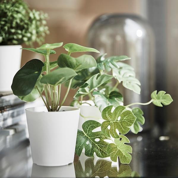 FEJKA Set 3 piante artificiali con vaso, da interno/esterno verde, 6 cm