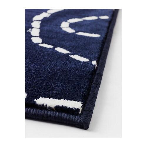 Tappeto moderno blu scuro arredo casa soggiorno ufficio a - Ikea tappeti pelo corto ...
