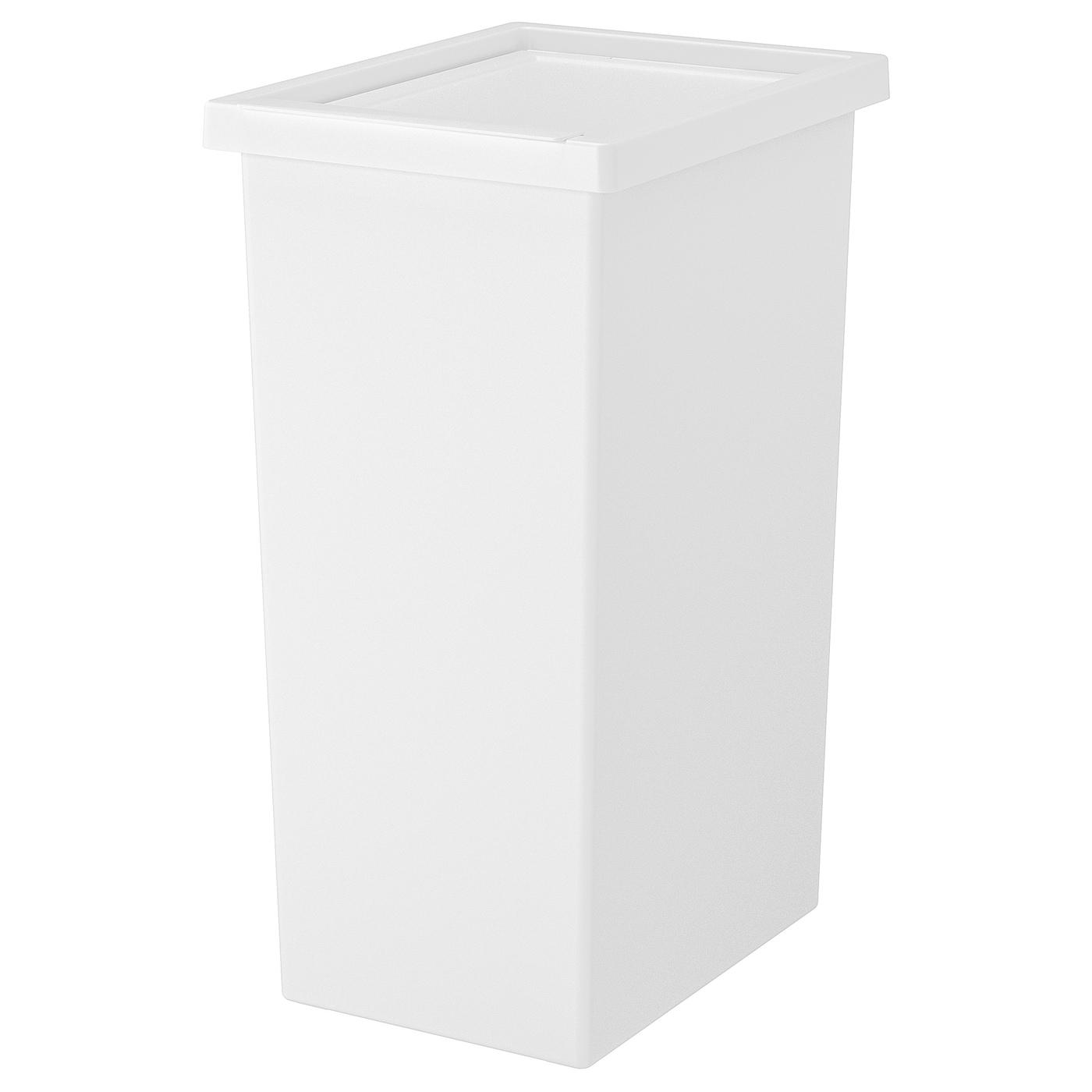 Raccolta Differenziata Bidoni Ikea filur bidone con coperchio - bianco 42 l