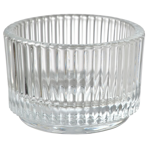 FINSMAK Portacandelina, vetro trasparente, 3.5 cm