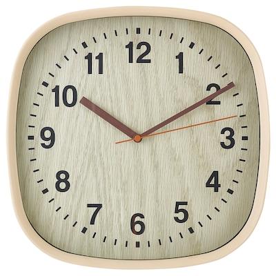 FJÄRR Orologio da parete, marrone chiaro, 30x30 cm