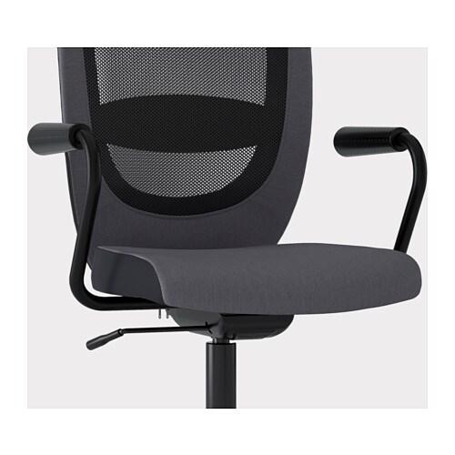 Sedie Ikea Per Ufficio.Flintan Nominell Sedia Da Ufficio Con Braccioli Grigio Ikea