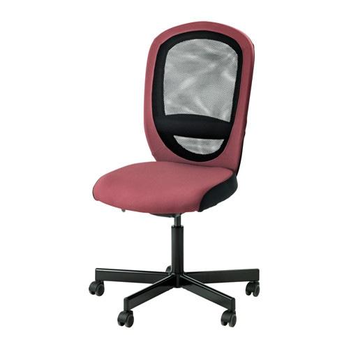 Flintan sedia da ufficio havhult rosa scuro ikea for Sedia rosa