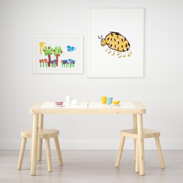 FLISAT Tavolo per bambini, 83x58 cm