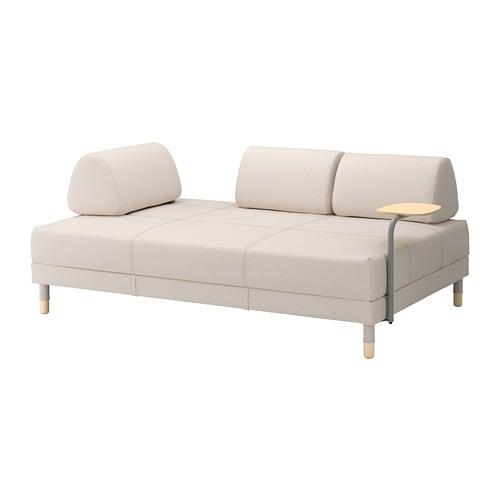 Flottebo divano letto con tavolino lofallet beige ikea - Divano con letto estraibile ikea ...