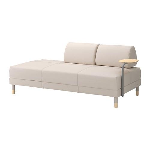 Flottebo divano letto con tavolino lofallet beige ikea - Divano con contenitore ikea ...