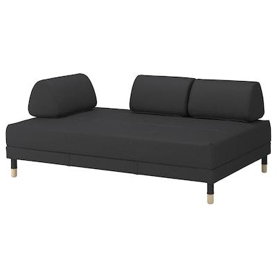 FLOTTEBO Divano letto, Vissle grigio scuro, 120 cm