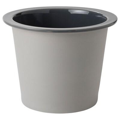 FNITTRIG Portavasi, da interno/esterno blu/grigio, 24 cm