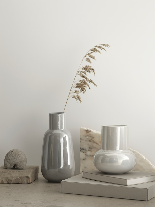 FNITTRIG Vaso, bianco, 17 cm