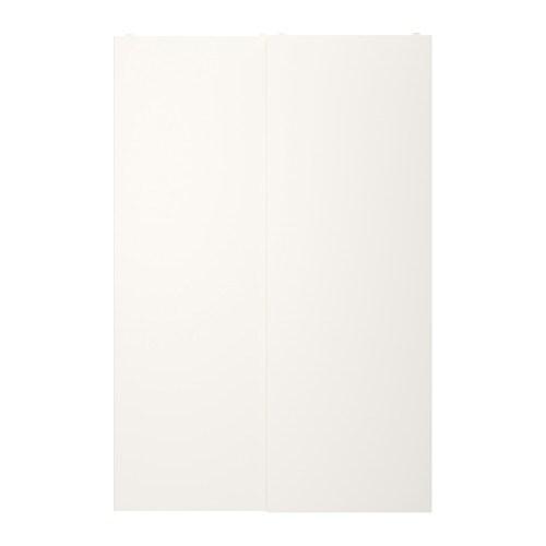 Sistema Ante Scorrevoli Ikea.Fonnes Coppia Di Ante Scorrevoli Bianco