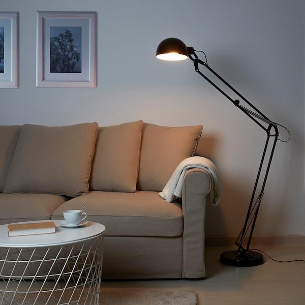 FORSÅ lampada da terra nero 15 W 98 cm 185 cm 30 cm 20 cm 2.0 m