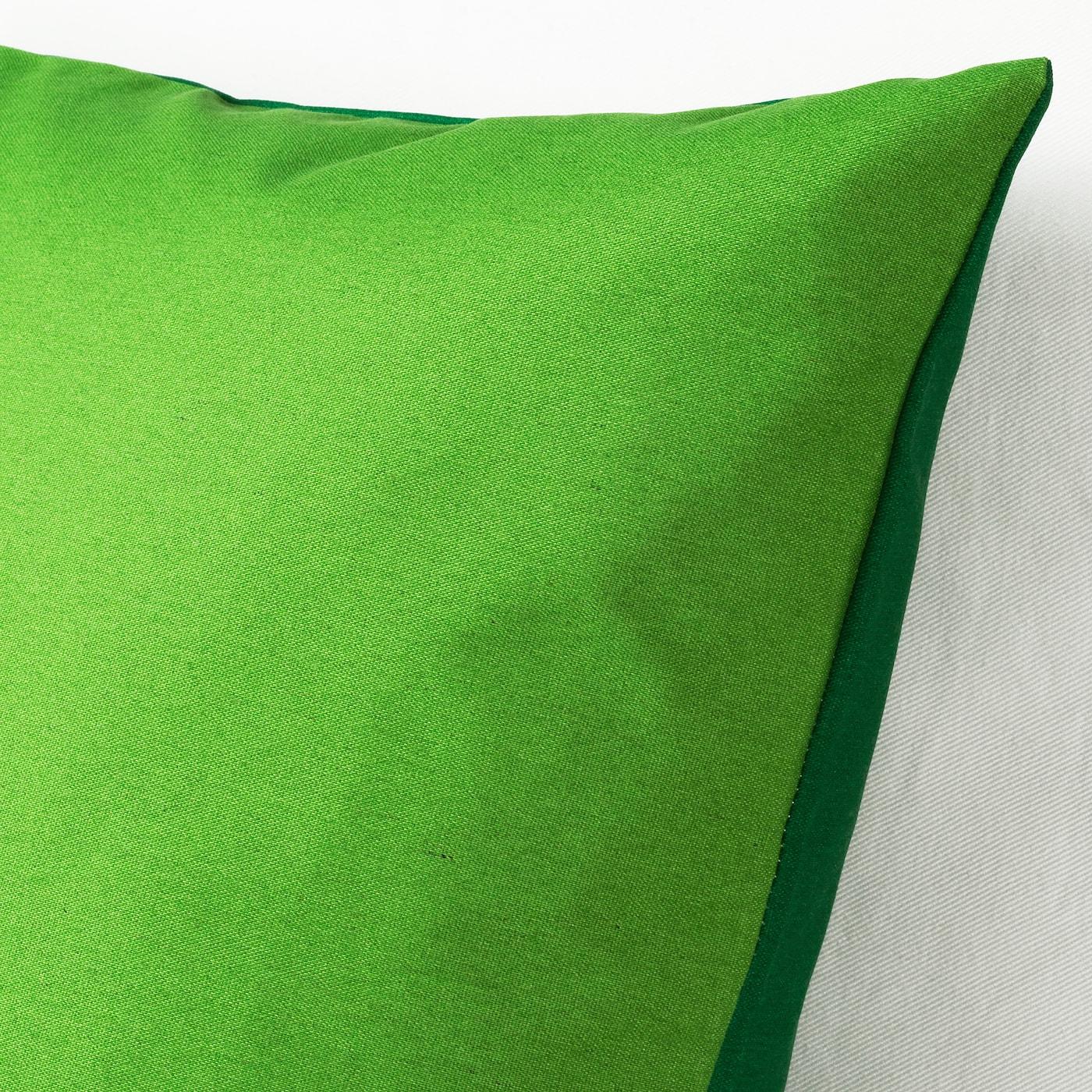FORTSKRIDA Fodera per cuscino, verde, 50x50 cm
