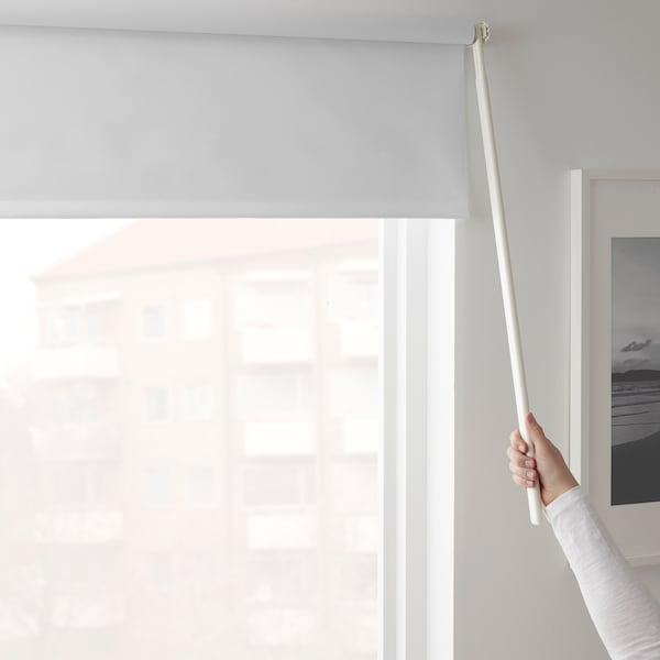 FRIDANS Tenda a rullo oscurante, bianco, 120x195 cm
