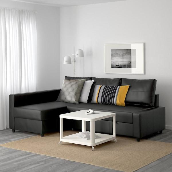 Divano Letto In Pelle Ikea.Friheten Divano Letto Angolare Contenitore Bomstad Nero Ikea