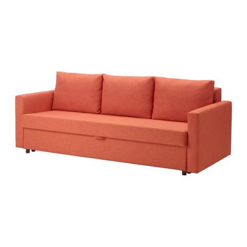 Friheten divano letto a 3 posti skiftebo arancione scuro ikea - Divano arancione ...
