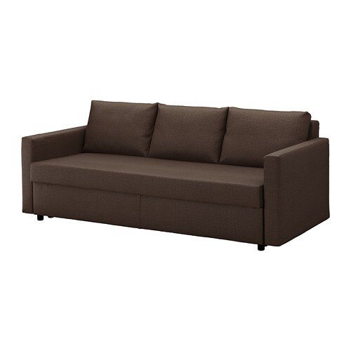 FRIHETEN Divano letto a 3 posti - Skiftebo marrone - IKEA