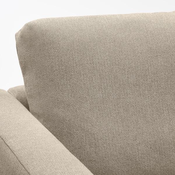 FRIHETEN Divano letto angolare/contenitore, Hyllie beige
