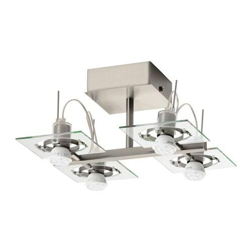 Fuga faretto da soffitto a 4 luci ikea - Ikea lampade da soffitto ...
