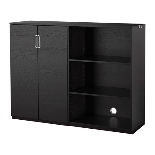 Galant combinazione di mobili marrone nero ikea - Mobili da ufficio ikea ...