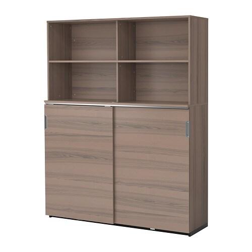 GALANT Mobile con ante scorrevoli - grigio - IKEA