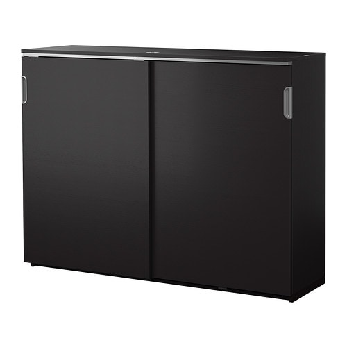 Galant mobile con ante scorrevoli marrone nero ikea for Ikea ante scorrevoli