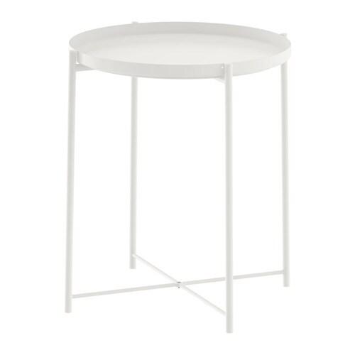 Gladom tavolino vassoio bianco ikea for Coprisedia bianco ikea
