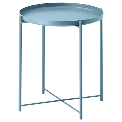 GLADOM Tavolino vassoio, blu, 45x53 cm