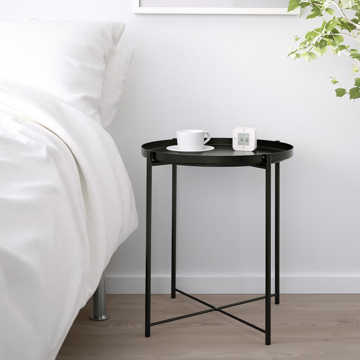 Tavolino Che Diventa Tavolo Ikea gladom tavolino vassoio - nero 45x53 cm