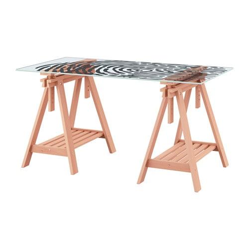 Glasholm finnvard tavolo vetro impronta digitale faggio ikea - Tavolo di vetro ikea ...