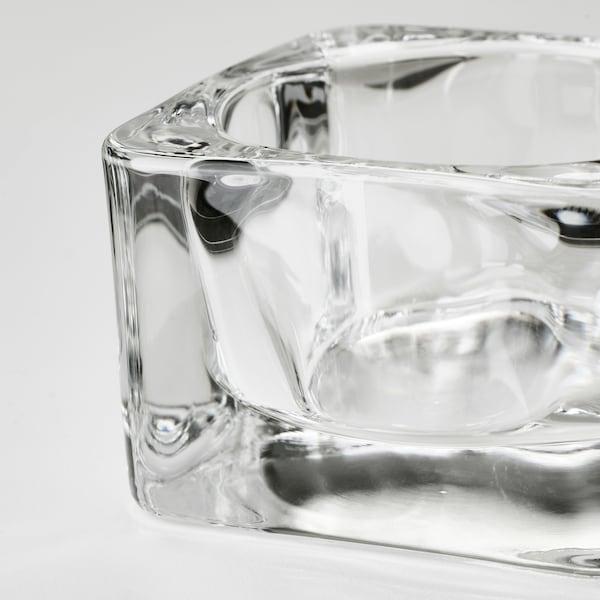 GLASIG Portacandelina, vetro trasparente, 5x5 cm