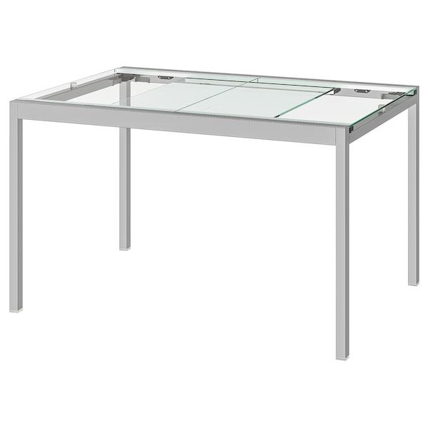 Ikea Tavoli Da Giardino Allungabili.Glivarp Tavolo Allungabile Trasparente Cromato Ottieni Tutti I