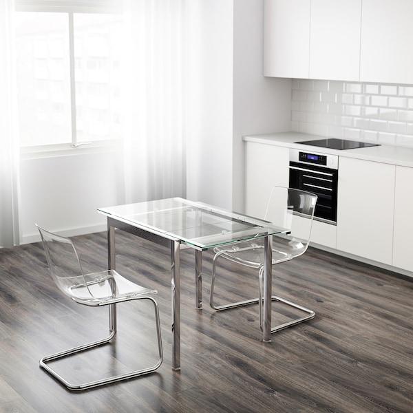Glivarp Tavolo Allungabile Trasparente Cromato Scopri I Dettagli Del Prodotto Clicca Qui Ikea It