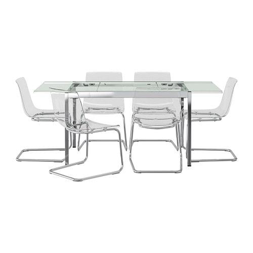 Glivarp tobias tavolo e 6 sedie ikea - Piano tavolo vetro ikea ...