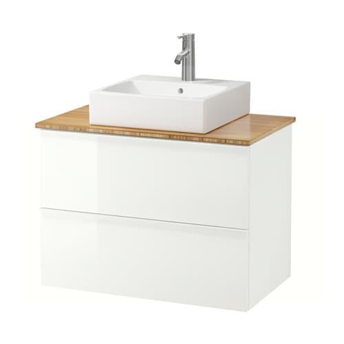 Piano Di Lavoro Bianco Ikea : Godmorgon aldern tÖrnviken mobile lavabo piano di