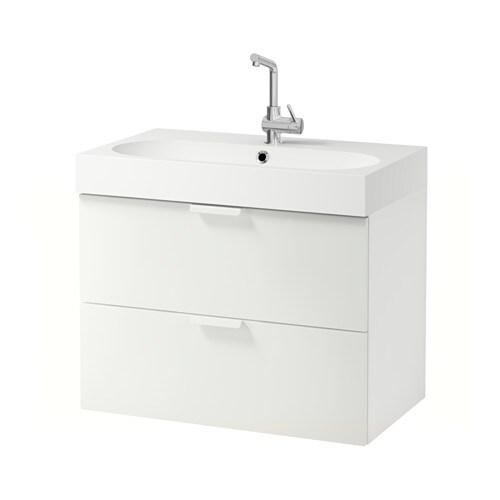 Godmorgon br viken mobile per lavabo con 2 cassetti bianco ikea - Mobile lavabo ikea ...