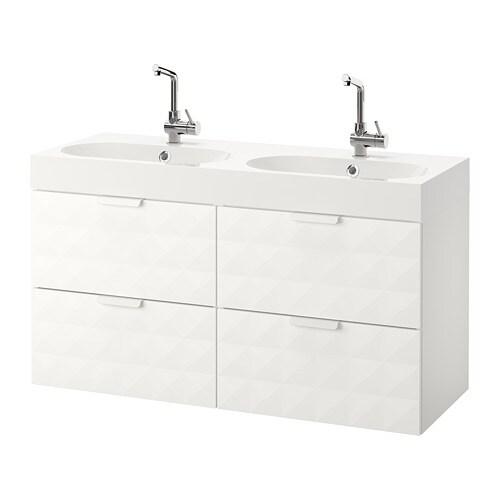 Godmorgon br viken mobile per lavabo con 4 cassetti resj n bianco ikea - Godmorgon ikea mobile alto ...