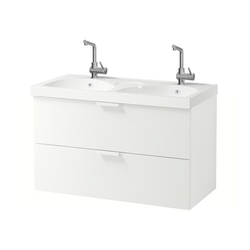 Godmorgon edeboviken mobile per lavabo con 2 cassetti bianco ikea - Ikea mobili per lavabo bagno ...