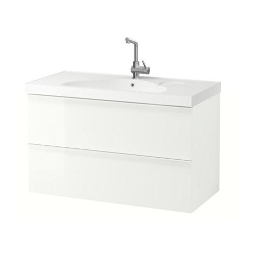 Godmorgon edeboviken mobile per lavabo con 2 cassetti lucido bianco ikea - Ikea mobili bagno con lavabo ...