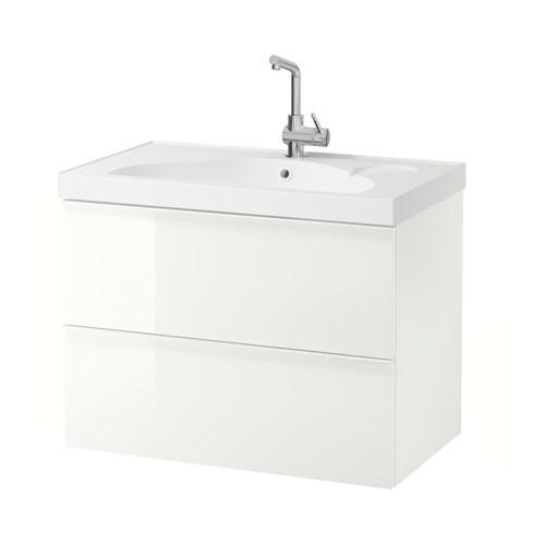 Godmorgon edeboviken mobile per lavabo con 2 cassetti lucido bianco ikea - Ikea mobili per lavabo bagno ...
