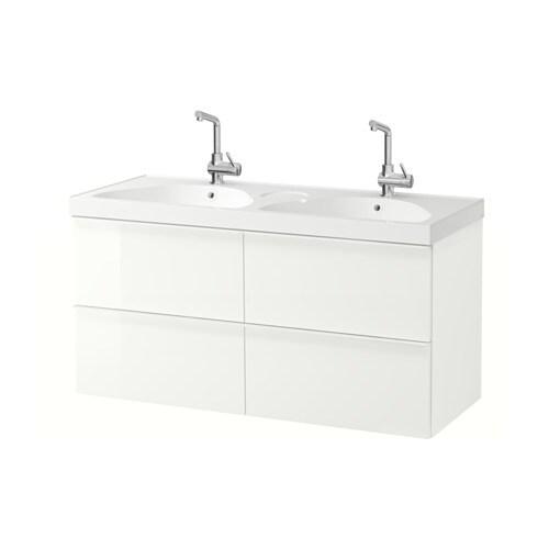 Godmorgon edeboviken mobile per lavabo con 4 cassetti lucido bianco ikea - Ikea mobili bagno con lavabo ...