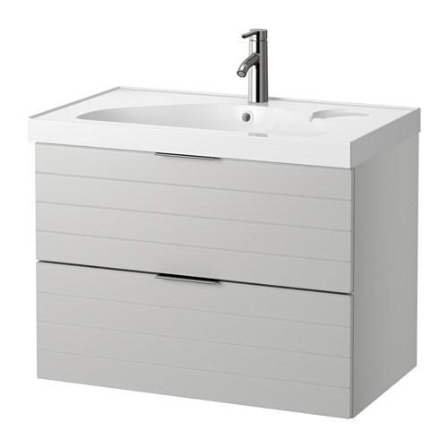 Godmorgon edeboviken mobile per lavabo con 2 cassetti grigio chiaro ikea - Ikea mobili per lavabo bagno ...
