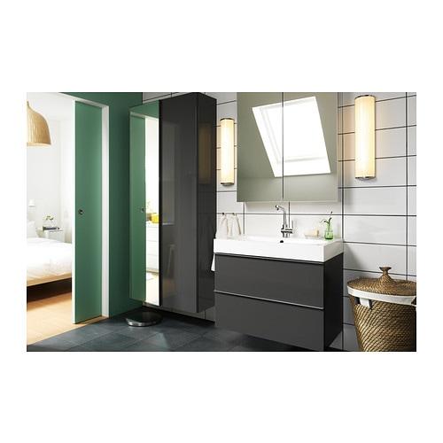 Godmorgon Mobile A Specchio Con 2 Ante 100x14x96 Cm Ikea