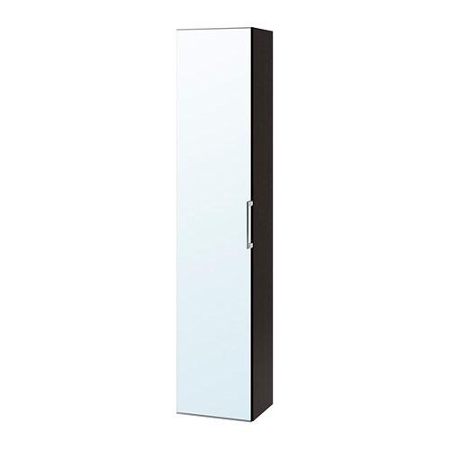Godmorgon Mobile Alto Con Anta A Specchio Marrone Nero Ikea