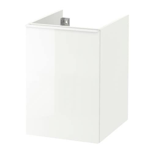 Godmorgon mobile per il bucato lucido bianco ikea - Mobile bianco ikea ...