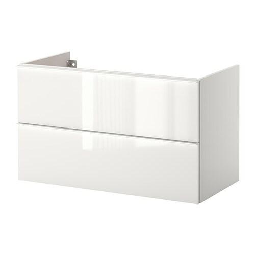 Godmorgon mobile per lavabo con 2 cassetti lucido bianco 100x47x58 cm ikea - Godmorgon ikea mobile alto ...
